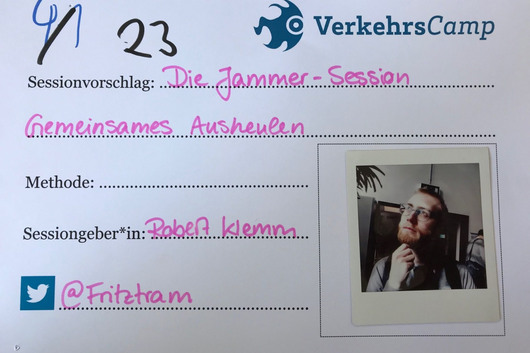 Jammer-Session mit Robert Klemm